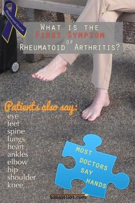 Primeiro sintoma da artrite reumatóide