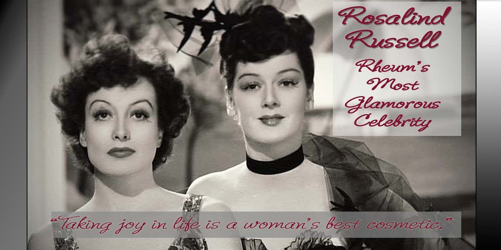 Rosalind Russell and Joan Crawford 1939