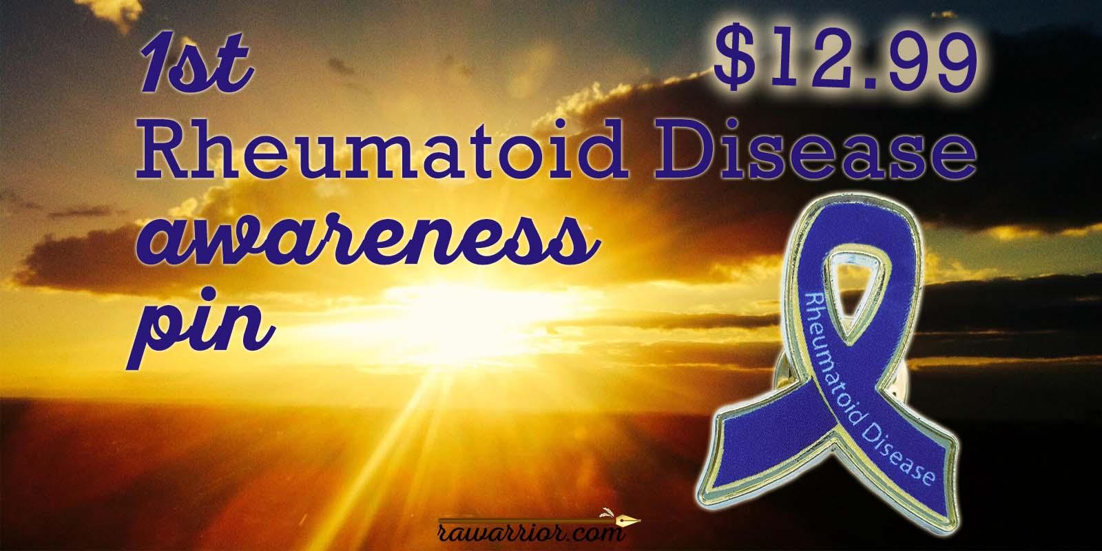 Rheumatoid Arthritis Awareness Pin