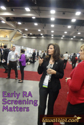 Early RA screening. Kelly at poster session.