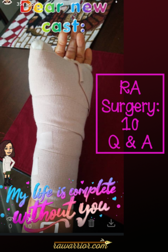 RA surgery 10 questions