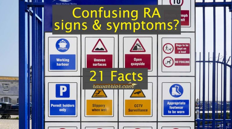 rheumatoid arthritis signs symptoms