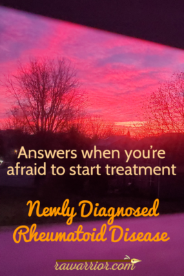 Newly diagnosed RA and afraid. Christmas sunrise.